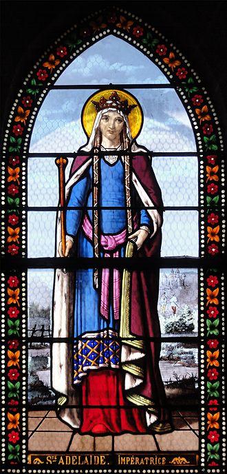 Adelaide of Italy - Image: Sainte Adélaïde Église de Toury, vitraux par Lorin