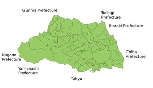 Map of Saitama Prefecture.