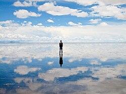 Божественное небо, отражающееся в божьем зеркале мира.