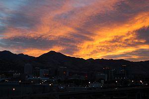 Sonnenaufgang über Salt Lake City