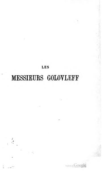 File:Saltykov-Chtchedrine - Les Messieurs Golovleff.djvu