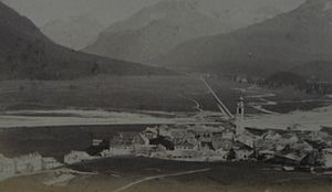 Samedan - A photograph of Samedan in the circa 1870s.
