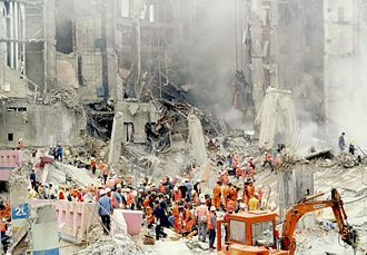 Sampoong Department Store collapse - Rescue crews at the site of the collapse