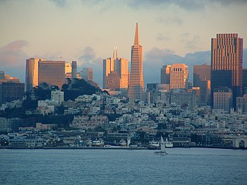 English: Picture of San Francisco at Sunset. F...