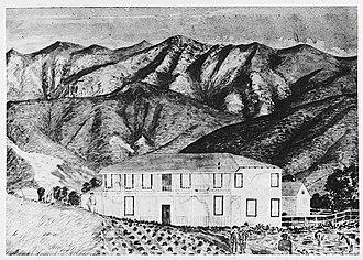 Sánchez Adobe Park - The Sánchez Adobe during the Kirkpatrick Period, 1885