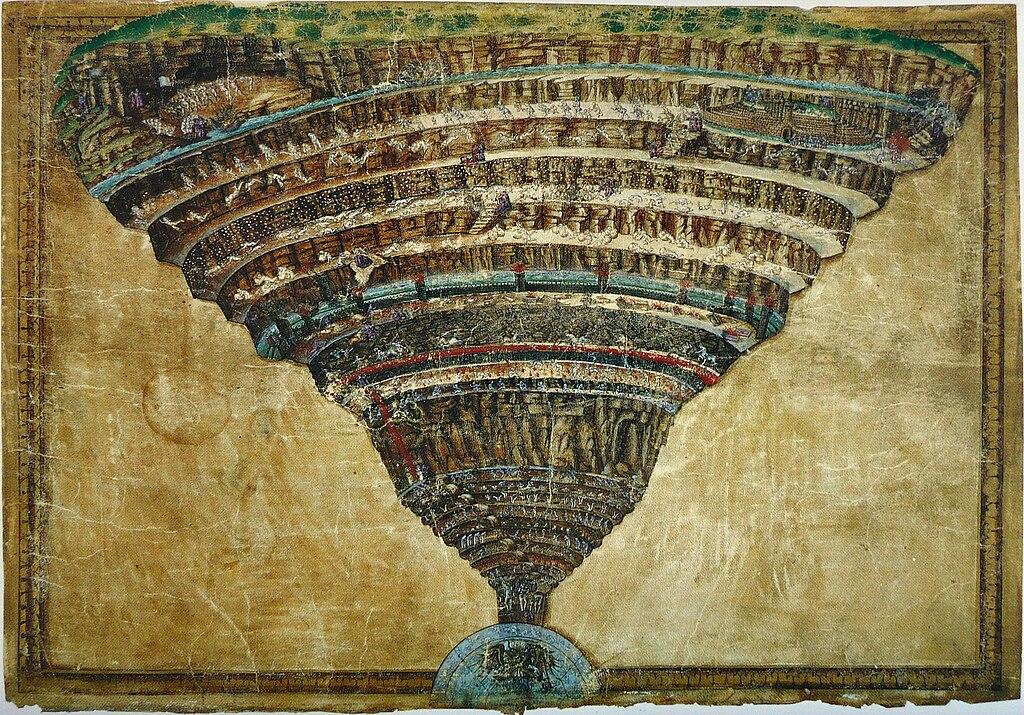 la carte de l enfer File:Sandro Botticelli   La Carte de l'Enfer.   Wikipedia