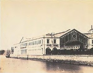 Santa Apolónia railway station - A 19th century view of the Santa Apolónia station