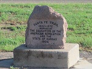Coolidge, Kansas - Image: Santa Fe Trail marker in Coolidge, KS IMG 5820