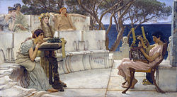 Lawrence Alma-Tadema: Sappho and Alcaeus