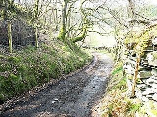 Sarn Helen Roman road in Wales