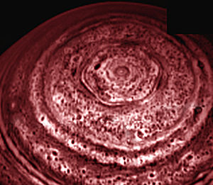 North polar hexagonal cloud feature on Saturn,...