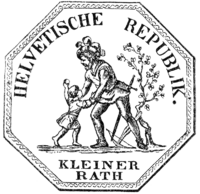 Official seal of the Helvetic Republic.