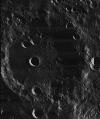 Scheiner (crater) - Lunar Orbiter 4 image