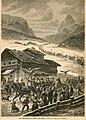 Schlittenfahrt mit Trachten in Wolkenstein Gröden nach einer Skizze von A. Härting.jpg