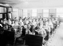 A classroom in Robert Emmet School from 1911.
