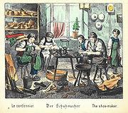 Der Schuhmacher (aus Was willst du werden, um 1880)
