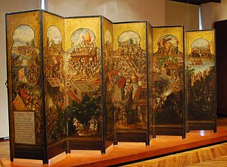 Asian Mexicans - A 17th century biombo (from Japanese byōbu) depicting  the Conquest of Mexico. These folding screens first became popular in colonial Mexico following diplomatic contact, however most were produced in Mexico rather than imported from Japan.
