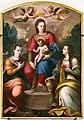Scuola di santi di tito, madonna incoronata col bambino tra le sante caterina d'alessandria e maddalena, 1590 ca.jpg
