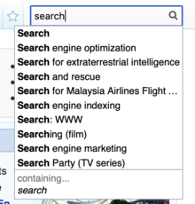 SearchSuggest widget on Wikipedia.png