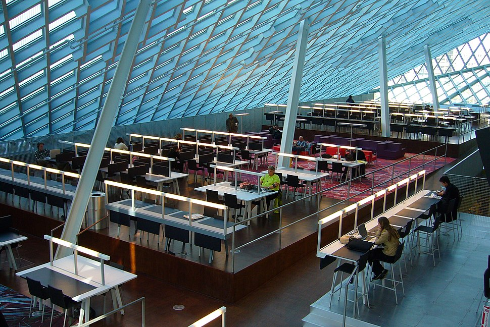 Seattle Public Library Main Branch Reading Room