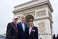 Secretary Kerry Poses With D-Day Veterans in Shadow of Arc d'Triomphe Before 70th Anniversary VE Day Commemoration in Paris (17233890398).jpg