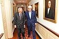 Secretary Kerry Walks With Philippines Secretary of Foreign Relations Albert F. Del Rosario (24247695912).jpg