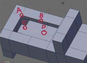 Selecting vertices