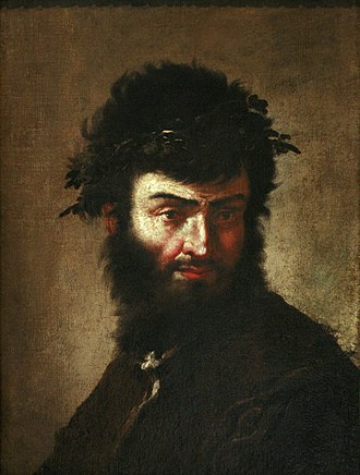 Salvator Rosa - Self-portrait, circa 1645 (Musée des Beaux-Arts de Strasbourg)