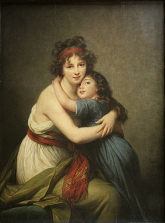 Hug - Madame Vigée-Lebrun et sa fille, by Louise Élisabeth Vigée Le Brun, 1789