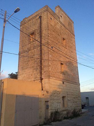 Għargħur - The Għargħur Semaphore Tower, which was built in 1848