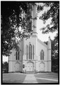 September 1966 DETAIL OF NORTHWEST FACADE - Trinity Church (P. E.), 651 Pequot Road, Southport, Fairfield County, CT HABS CONN,1-SOUPO,22-3.tif