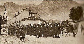 September Uprising - Arrested rebels in Vratsa