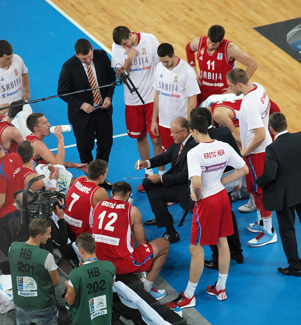 Serbian team timeout Eurobasket 2013