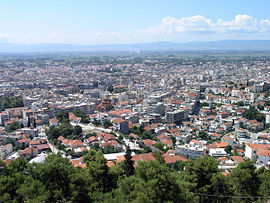 View of the modern city of Serres from the Acropolis.