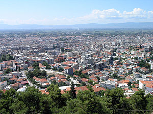 Serres - View of the modern city of Serres from the Acropolis.