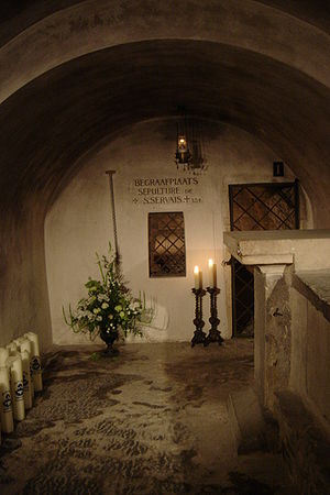 Servatius of Tongeren - Tomb of Saint Servatius (behind the back wall) inside Basilica of Saint Servatius, Maastricht