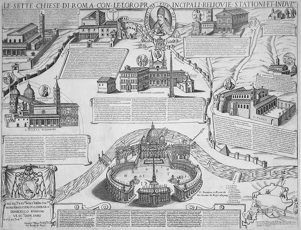 Seven Churches of Rome - Giacomo Lauro - 1599