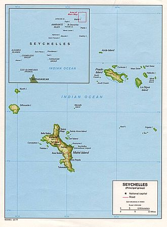 Desroches Island - Image: Seychelles large map