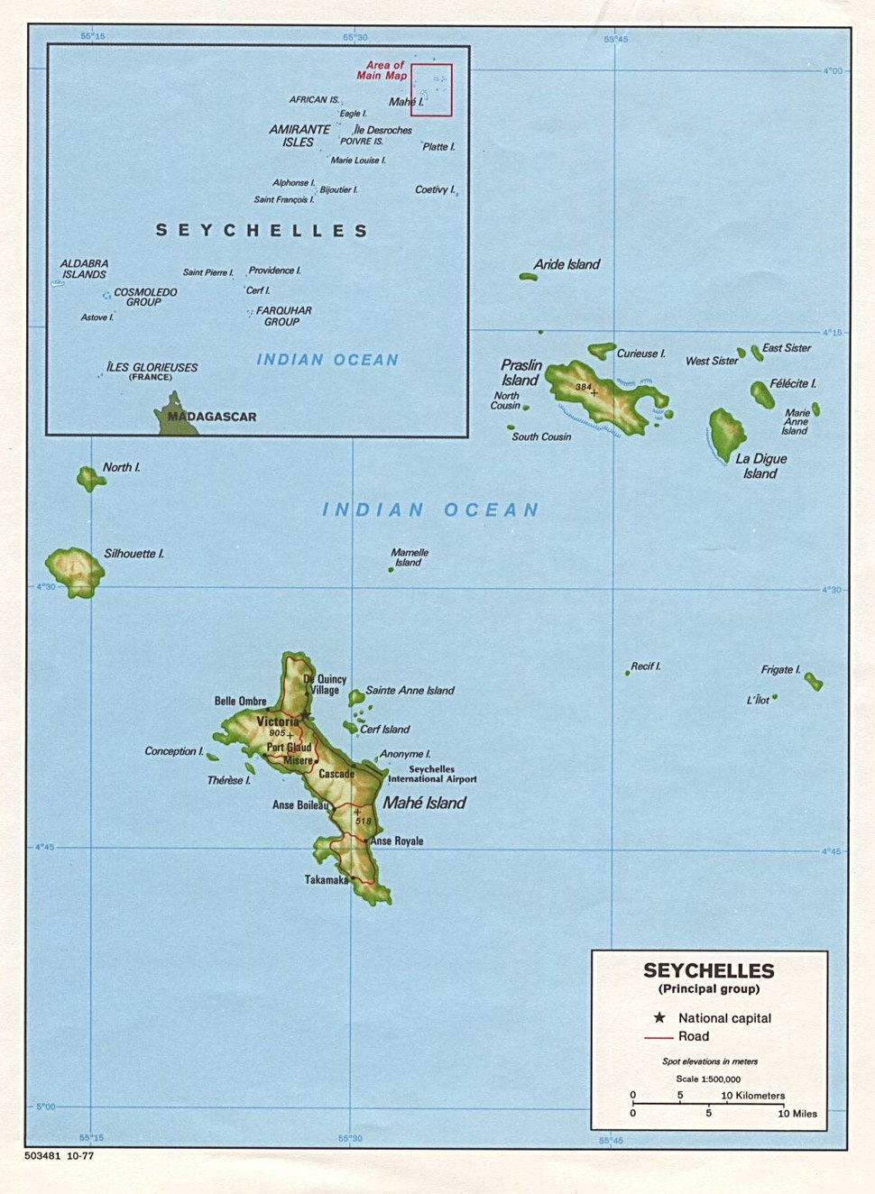 Seychelles large map