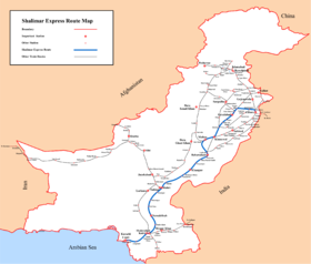 Shalimar Express route map