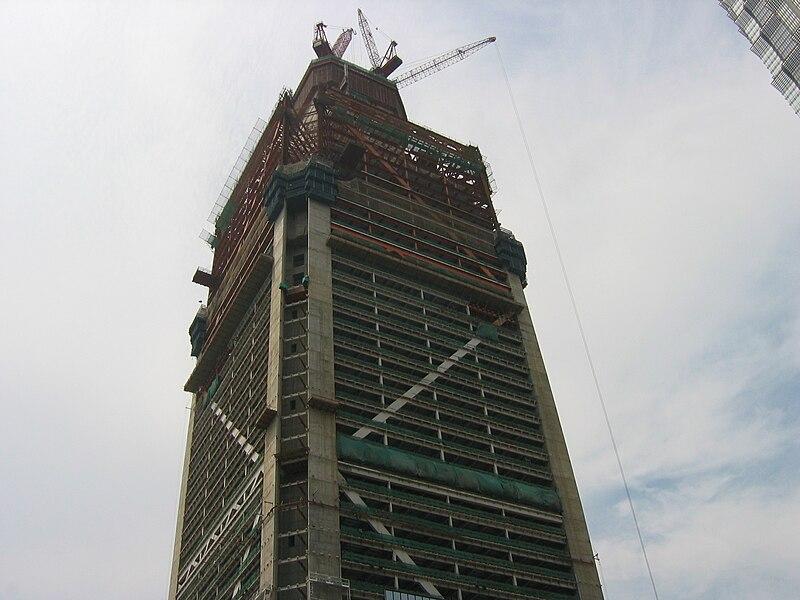 File:Shanghai World Financial Center in construction.jpg