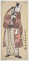 Matsumoto Kōshirō IV as the hick spendthrift from Yamato, actually Ninokuchimura Magoemon