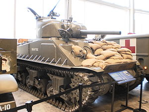 The National WWII Museum - Image: Sherman Tank at WWII Museum in New Orleans