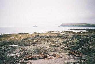 Trebetherick - Image: Shipwreck at trebetherick point