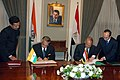 Shivraj V. Patil and the Egypt's Minister for Foreign Affairs, Mr. Abul Gheit signing the Bilateral Agreements on the Transfer of Sentenced Persons and Mutual Legal Assistance in Criminal Matters, at Cairo.jpg