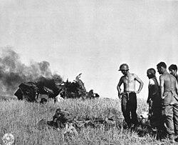 Sicily Husky WWII Dead Pilot 1943