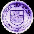 Siegelmarke Siegel der Stadt - Grevenbroich W0229391.jpg