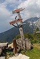 Sign at mountain hut Roblekov Dom, Karawanks, Slovenia 04.jpg