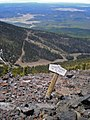 Sign atop Humphreys Peak (3910823810).jpg