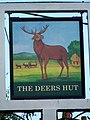 Sign for the Deers Hut - geograph.org.uk - 1476584.jpg